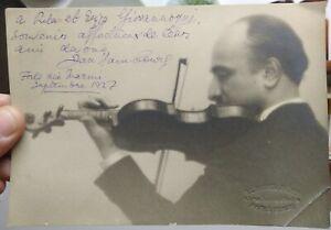 1927-95-FORTE-DEI-MARMI-FOTO-AUTOGRAFA-DEL-GRANDE-VIOLINISTA-RUSSO-JAN-HAMBOURG