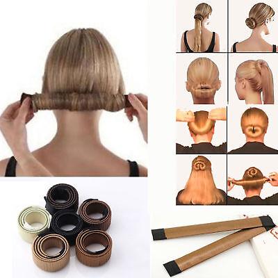 Hair Donut Haar Bun Maker Styling Hochsteckfrisur Damen Dutt Kissen Tool Hilfe | eBay