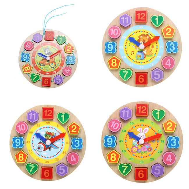 Digital Clock Cognition Time Educational Toys Kids Teaching Puzzle Child Games D 6