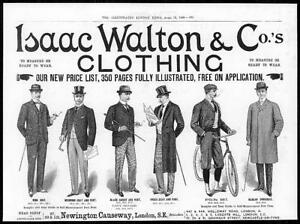 1899-Antique-Print-ADVERTISING-Isaac-Walton-Clothing-Suits-Overcoat-82