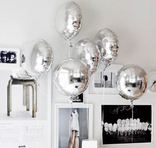 Silver Helium Foil Balloon (45cm/18'') -  Wedding/Engagement Foil Balloons