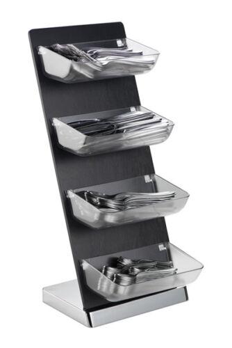 Service Tower Besteckausgabe Serviceregal Portionsspender 26 x 18 x 57,5 cm Holz