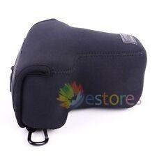 MORBIDO NEOPRENE Fotocamera Protettore Custodia Borsa per Nikon D3100 D3200 D3300 18-55mm LENS