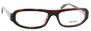 MIU-MIU-Brille-Eyeglasses-Mod-VMU11F-7VO-1O1-Schwarz-Havanna