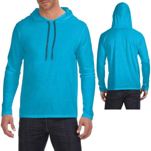 3XL Mens Lightweight Hoodie T-Shirt Long Sleeve Hoody Tee Soft Cotton S-XL 2XL