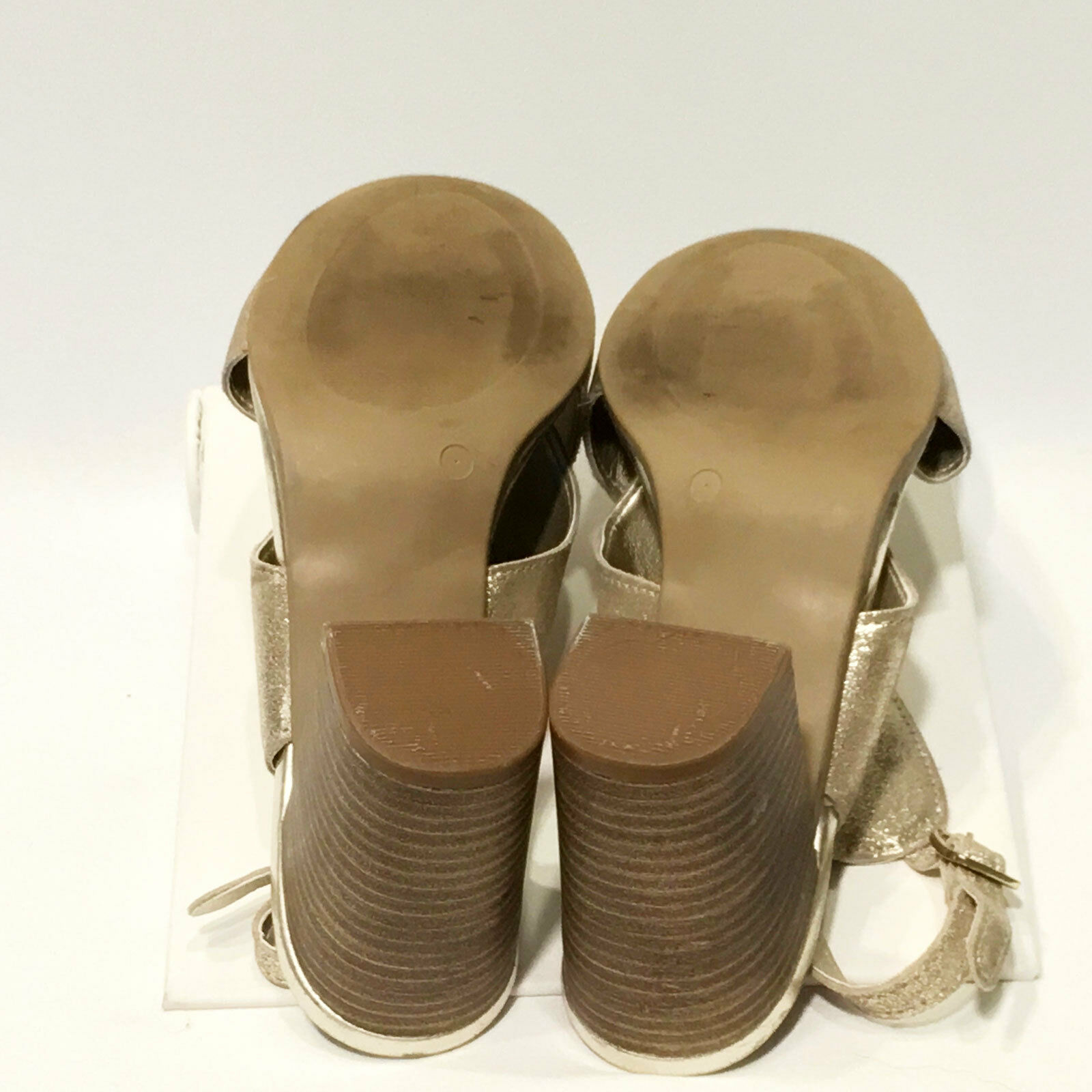 Anthropologie Lien.Do     gold Metallic Wrap Sandals – Size 7 M c9a8e8