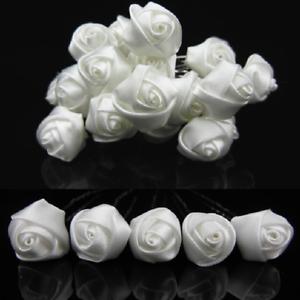 Set-10-blanc-epingles-a-cheveux-Satin-ROSES-PETITES-ROSES