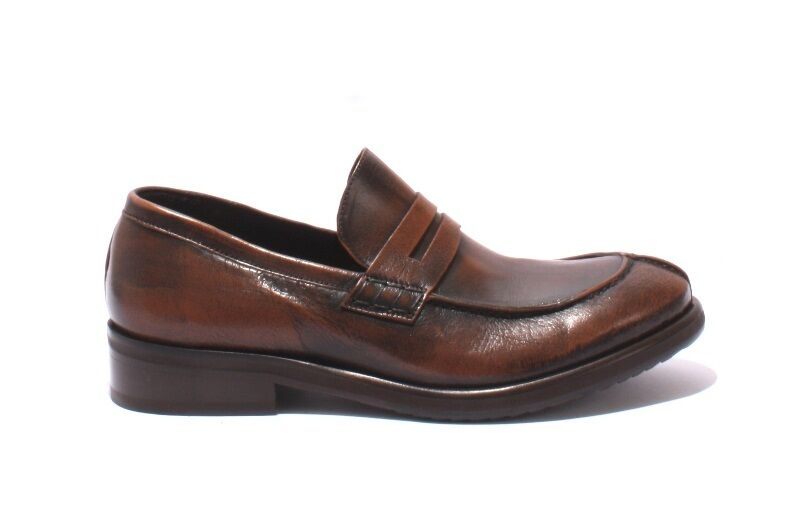 Ernesto Dolani 2125 Antique Style marrone   Brushed 11 Pelle Loafers
