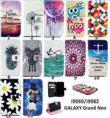 Pattern Wallet Leather Stand Cover case for Samsung Galaxy Grand Neo I9060 I9062