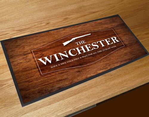 Bar runner The Winchester Shaun of the Dead Wood effect pubs clubs counter mat