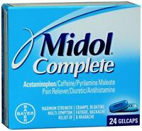 Midol Menstrual Complete Gelcaps 24 Gelcaps (pack Of 3) on sale