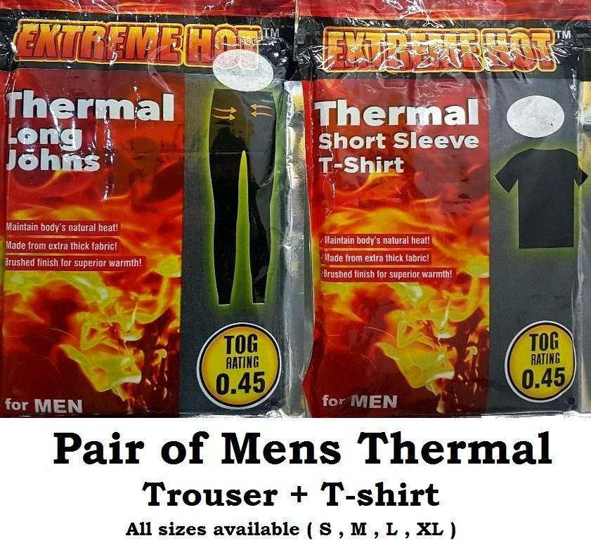 Charmant Mens Thermal Long Johns Trouser Thick Fabric Chaud Bottom T Shirt Uk Sizes Toutes Peut êTre à Plusieurs Reprises Replié.