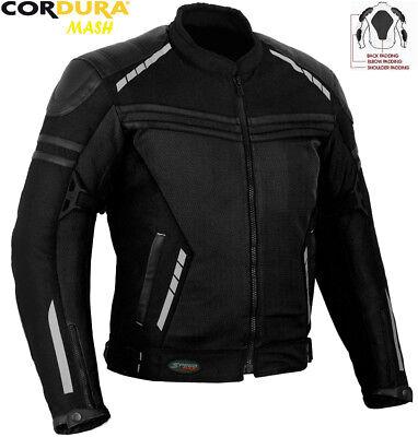 XXL MENS ORANGE AIR VENT TECHNOLOGY MESH SUMMER MOTORBIKE MOTORCYCLE TEXTILE JACKET