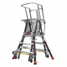 Little Giant 18503 240 Platform Ladder Adjustable Safety Cage 36gl22 New