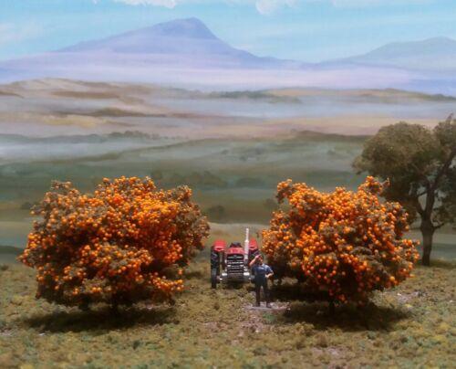 MODEL  ORANGE GROVE TREES HO SCALE  X 6