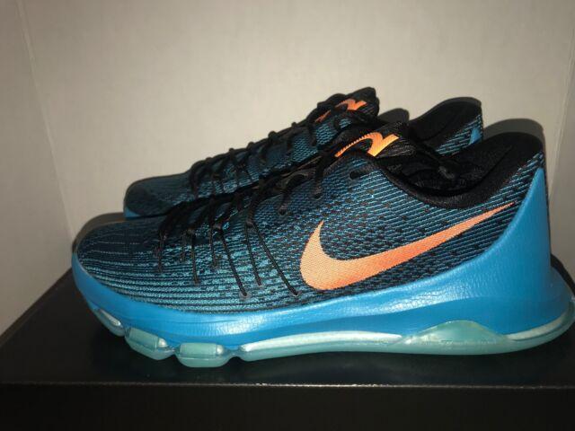 0fa62c2f0ae7 Nike KD 8 VIII Sz 13 Blue Lagoon Bright Citrus Black 749375 480 for ...