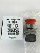 NEW Schneider XB4-BS542 E-Stop 22mm Mounting w// one NC contact!