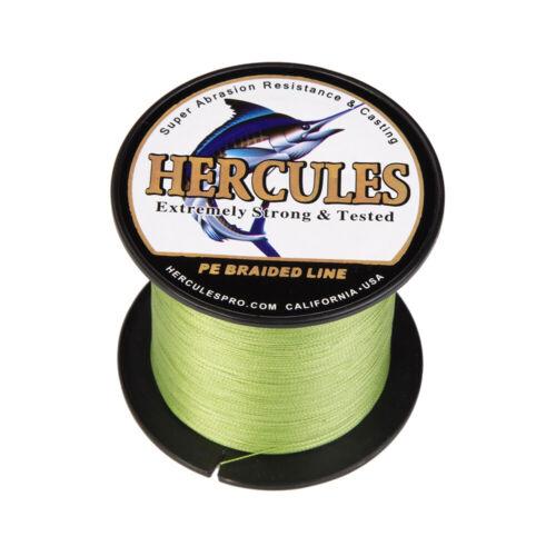 Army Green PE Braided Fishing Line Hercules Extreme Mainline 6-100lbs 330 Yards
