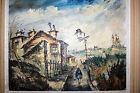 """tableau peinture huile sur toile """"vue de Montmartre"""" signé Lorian 59"""