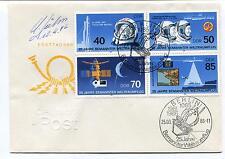 1986 Ersttagsbr Berlin Bermannter Weltraumflug German Space Cover SIGNED