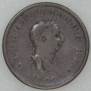 1806-Great-Britain-Half-Penny-King-George-III-Readable-Date-Decent-Details