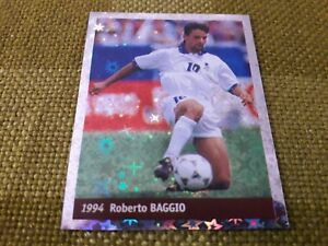 ROBERTO-BAGGIO-ITALIA-FIGURINA-DS-STICKERS-FRANCE-98-WORLD-CUP-new