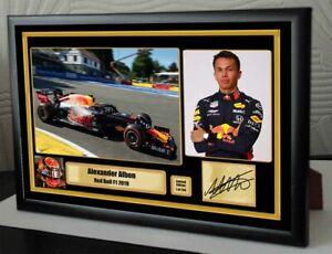 Alexander-Albon-Red-Bull-2019-F1-Framed-Canvas-Signed-Print-034-Great-Gift-034