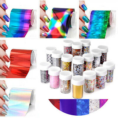 Rare Galaxy Nail Art DIY Transfer Wrap Foil Sticker Glitter Tip Decal Decoration