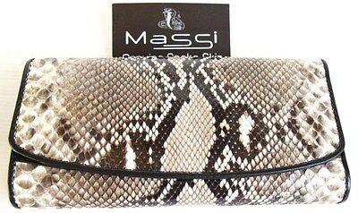 Genuine Real Python Snake Skin Leather Men/'s Bifold Wallet Natural Grade A Rare