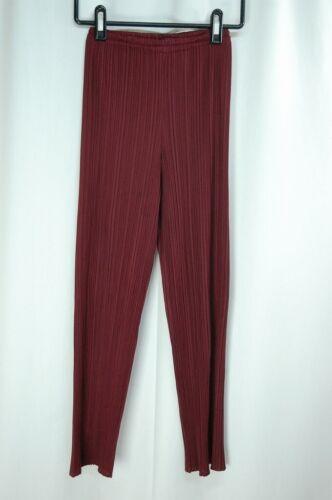 PLEATS PLEASE Burgundy Pants ISSEY MIYAKE 162 2987