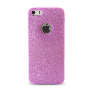 Back-Case-fuer-Apple-iPhone-6-6S-Cover-Ultra-duenn-Glitter-Huelle-Pink-Rosa-Schale