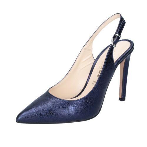 scarpe donna OLGA RUBINI 39 EU decolte blu pelle BP349-39