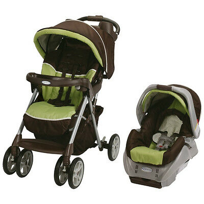 NEW! Graco Alano Classic Connect Travel System with Infant Car Seat (Go Green)