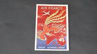 CARTE POSTALE AVIATION AIR FRANCE AFFICHE EXTREME ORIENT 1950
