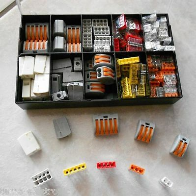 Wagoklemmen Set in Box 222-412/13/15 - 2273-202/3/4/5/8 - 224-101/112 Wago