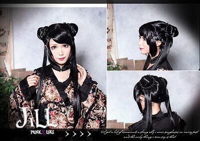japan anime lolita cosplay Cardcaptor Sakura RI MEIRIN side buns wig JPLH005