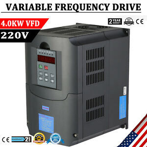 4KW 220V 5HP VFD SINGLE PHASE VARIABLE SPEED DRIVE INVERTER VARIABLE FREQUENCY 860962744646