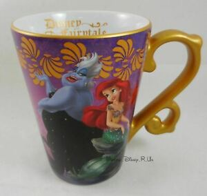 New-Disney-Store-D23-Designer-Fairytale-Mermaid-Ariel-amp-Ursula-Ceramic-Mug-Cup