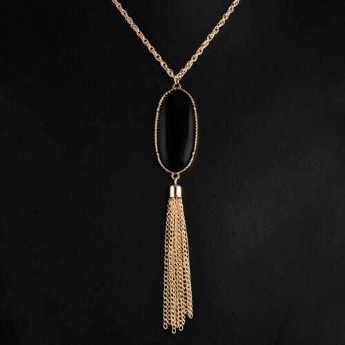 Multi Color Tassel Fringe Wood Beads Boho Ethnic Charm Handmade Necklace Jewelry