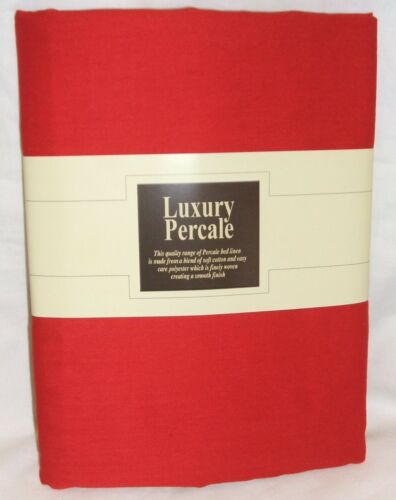 """7 FT Chilli Red FITTED SHEET+ 2 FREE PILLOWCASE NEW 10/"""" DEEP  EMPEROR"""