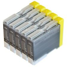 5 Patronen black für Brother LC970 DCP135C MFC240C DCP130C DCP150C MFC235C Tinte