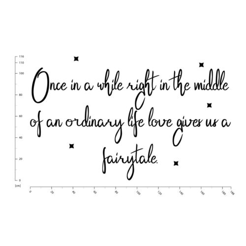 Once In A While Love Quote Wall Decal Sticker WS-41503