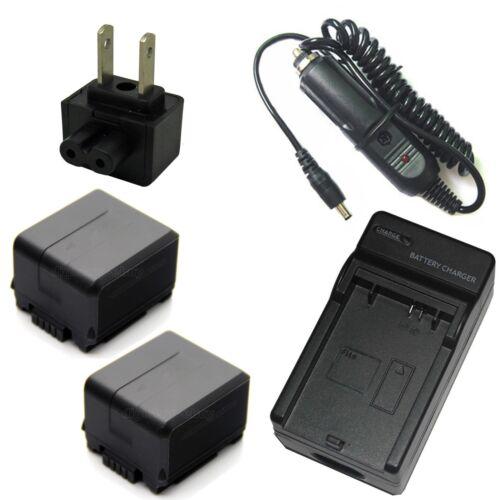 Cargador 2x Batería Para Panasonic HDC-DX1 HDC-DX3 HDC-SD1 HDC-SD1EG HDC-SD1GC
