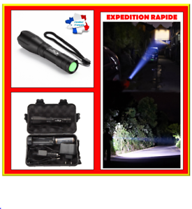 K20 led powerful torch in box with battery charger police fast dispatch