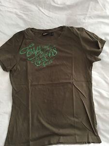 ESPRIT SPORTS T-Shirt, Kurzarm, Gr. 42, Khaki/Grün, 100 % Baumwolle - Erlangen, Deutschland - ESPRIT SPORTS T-Shirt, Kurzarm, Gr. 42, Khaki/Grün, 100 % Baumwolle - Erlangen, Deutschland