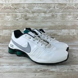 Nike-Shox-Deliver-Mens-Size-13-White-Leather-Athletic-Training-Running-Shoes