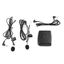 Stereo Motorcycle Motorbike Helmet 2-way Intercom Headset Black + Earphone
