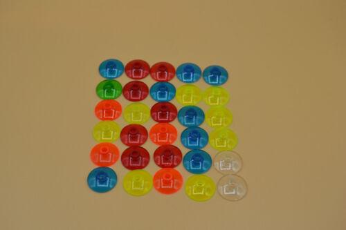 LEGO 30 x radar SAT CIOTOLA 2x2 TRASPARENTE 4740 rosso giallo blu verde arancione