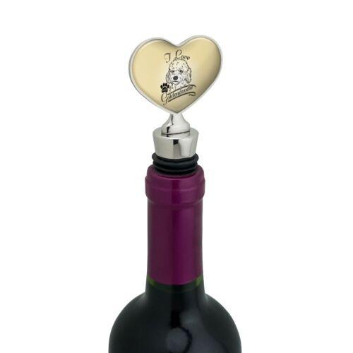 I Love My Goldendoodle Heart Love Wine Bottle Stopper