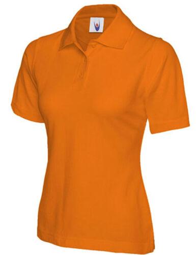 Femmes Polo Shirt Taille UK 8 To 26 plus Pique T-shirt Toutes Couleurs Nouveau UK STOCK